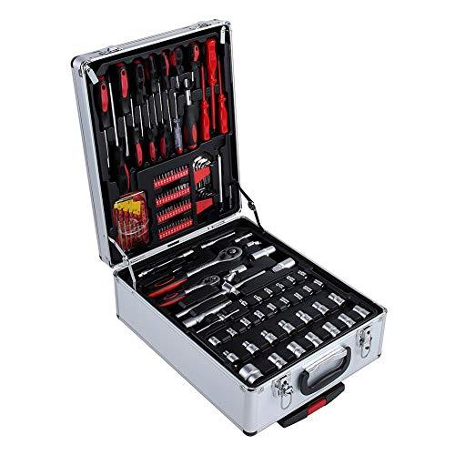 399 piezas caja de herramientas con ruedas, juego de herramientas para bricolaje, maletín de herramientas...