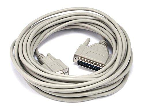 Db9f Modem (Monoprice 100465 at-Modem DB9F / DB25M vergossenes Kabel (6,4 m))