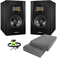"""Adam Audio T5V Professional Active 5"""" DJ Studio Monitor Speaker (Pair) with Isolation Pads & Cable"""