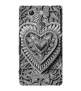 Decorative Heart Design 3D Hard Polycarbonate Designer Back Case Cover for Sony Xperia Z4 Mini :: Sony Xperia Z4 Compact