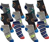 by Laake 12 Paar Jungen Sneaker Kinder Socken 95% Baumwolle Bunter Mix Gr. 23-38