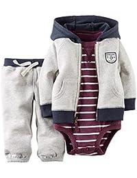 Huateng HT Variedad de Ropa de bebé para niños y niñas suéter de Manga Larga con Capucha (Tres Piezas)