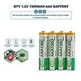4 unidades BTY 1.2 V AAA 3A 1350 mAh Capacidad de carga recargable Ni-MH para la batería de la...