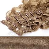Clip In Extensions Haarverlängerung XXL Set 55 cm - gewellt - Farbton Naturblond