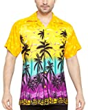 CLUB CUBANA Camicia da Uomo Hawaiana Floreale Classica Casual a Maniche Corte Slim Fit XL