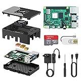 TICTID Raspberry Pi 4 Model B 1GB RAM Starter Kit Aggiornato Raspberry pi 3 con MicroSD Card 32GB, Tipo C Alimentatore 5V 3A con Interruttore, Ventola, Micro HDMI, Custodia e Lettore di Scheda