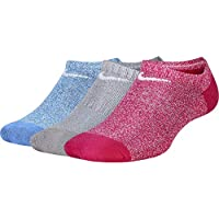 Nike Performance Cushioned no-Show Calcetines (3 Pares) Unisex niños, FR: S (Talla del Fabricante: S)