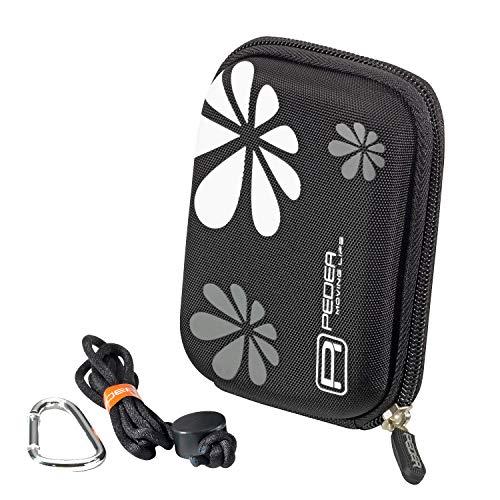 PEDEA Hardcase Kameratasche für Kompaktkamera schwarz, passend für Canon IXUS 185, 190, 285, PowerShot G9 X/Sony DSC HX90, HX99, RX100, W810, WX350/Nikon Coolpix A10/Panasonic LumixFT30/Aberg Best 21