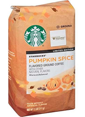 A photograph of Starbucks Pumpkin Spice