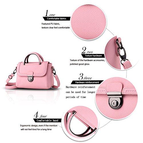 Tisdain Femminile Borsa a mano Portafoglio PU qualità Borse in pelle goffrata Borsa da donna big bag Borsa messenger rosa