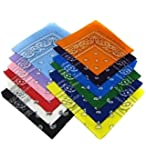 12 Assorted Color Bandannas