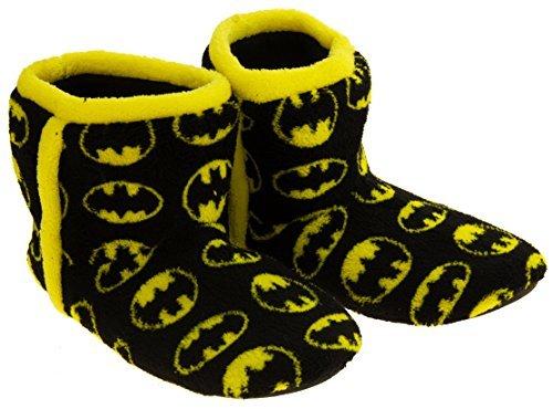 Batman-Unisex-nio-Fleece-Botas-Zapatillas