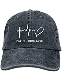 Nueva Letra Hope Love Christian Gorra de Lavado Ajustable de algodón Hip  Hop Azul Marino 698cc07c27f