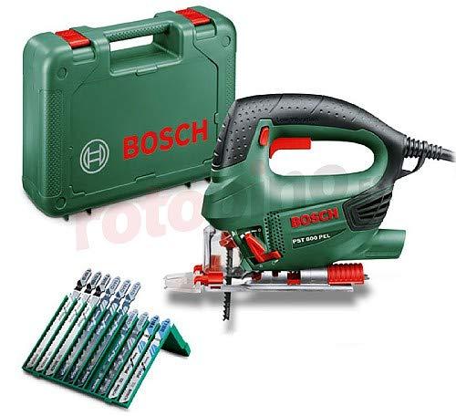 Bosch PST 800 PEL - Seghetto alternativo 530W con valigetta e set 10 lame