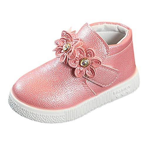 ELECTRI Bébé Bottes de Princesse de Bottillons de Couleur Unie Tissage de Fleurs Fille Princesse Chaussures Style Britannique Enfants Nourrissons Filles Chaussures Bottes français