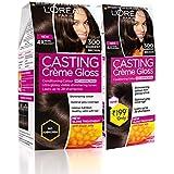 L'Oreal Paris Casting Crème Gloss Hair Colour, 300 Darkest Brown, (159.5ml+45ml) (Pack Of 2), Brown, 204 g (Pack of 2)