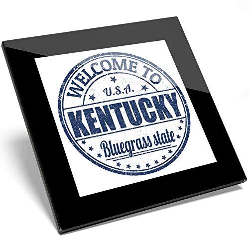 Destination Vinyl 1 x Welcome to Kentucky USA Bluegrass Glasuntersetzer - Küche Student Geschenk #6124 -