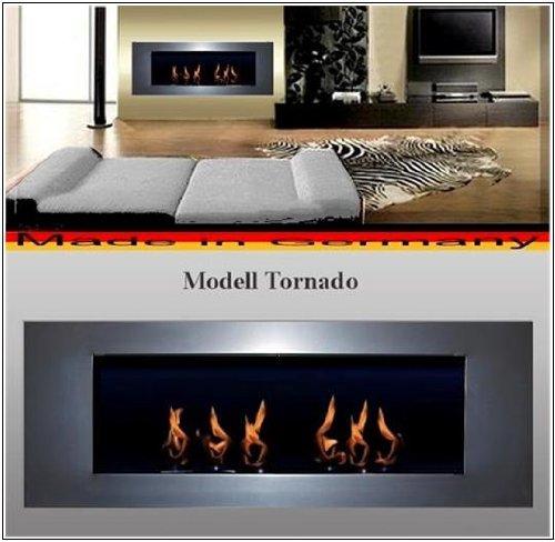 Ethanolkamin und Gelkamin - Kamin -Model Tornado - Wählen Sie aus 6 Farben (Silber, Inklusive 6 Bernnstoffdosen aus Weissblech 0.25 Liter)