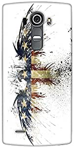 Snoogg Eagle With American Flag Designer Protective Back Case Cover For LG G4