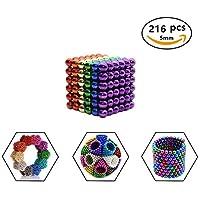 Luckyrao Sehr starker Magnet für Glasmagnetplatte, Magnetplatte, Whiteboard, Tafel, Stecktafel, Kühlschrank usw. - für Pinwand Magnettafel Whiteboard Kühlschrank (6 farben, 5mm,216pc)