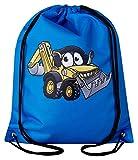 Aminata Kids - Kinder-Turnbeutel Bagger Sport-Beutel-Tasche Sport-Tasche-n Kindergarten