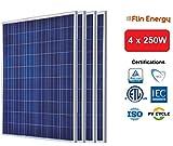 Flin Energy 1kW (4 x 250W) Solar Panels