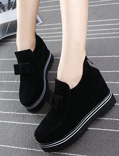 9d6c32f721a2 ... Mee Shoes Damen warm gefüttert Schleife Geschlossen hidden heel Ankle  Boots Schwarz