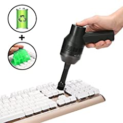 Idea Regalo - MECO Mini Aspirapolvere Ricaricabile con Gomma Pane Riutilizzabile con Batteria Li Pulitore per Tastiera Aspiratore Senza Fili Aspiratore Portatili per La Pulizia di Polvere Capelli Briciole Laptop