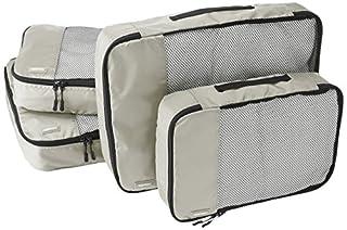 AmazonBasics Lot de 4sacoches de rangement pour bagage 2xTailleM/2xTailleL, Gris (B014VBICGC) | Amazon Products