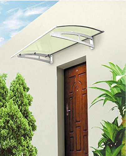 Baumarktplus Aluminium Vordach 150 x 100 cm Türdach Türvordach Haustür Tür Dach Pultvordach Aluminium-gläser