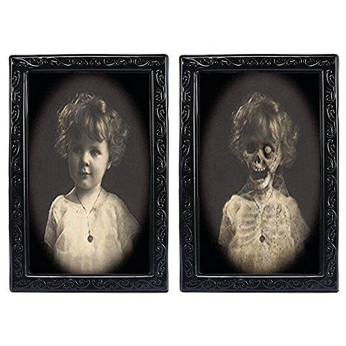 Umiwe Halloween Lenticular 3D Cambio de Cara Cuadro en Movimiento Retrato de Terror Embrujado Spooky Decoraciones