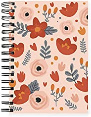 Happy Wagon   Coral Lush Undated Planner  Daily Study and Work Planning   Goals & Budget Tracker   Matte L