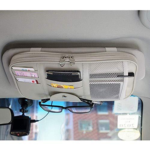 Mirage Auto Sonnenblende Veranstalter Bord Elektronische Zubehör-Speicher-Halter for Multi-Funktions-Speicher-Klipp-Auto universal, Schwarz (Color : Gray)