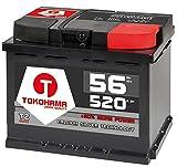Autobatterie 56Ah 520A +30% mehr Leistung Starterbatterie ersetzt 50Ah 54Ah 55Ah 60Ah
