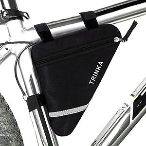 51Lgq78v7XL. SS300 Wommty Bike triangolo ciclismo tubo della parte anteriore della bicicletta telaio della sella con striscia riflettente…