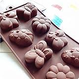 Karen Baking Bella farfalla e Bee e Beatles forma di figura del silicone della torta di cioccolato della muffa della gelatina della muffa della torta Stampi Bake ware