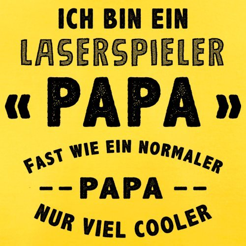 Ich bin ein Laserspieler Papa - Herren T-Shirt - 13 Farben Gelb
