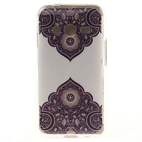 Qiaogle Telefono Case - Soft Custodia in TPU Silicone Case Cover per Samsung Galaxy Trend 2 Lite SM-G318H / SM-G313H - TX36 / Retro Fiore