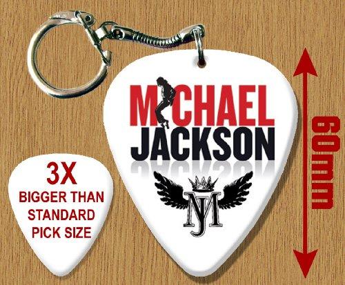 Michael Jackson BIG große Guitar Plektron Schlusselring