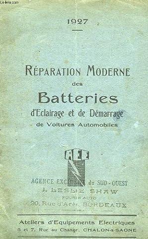 Réparation moderne des batteries d'eclairage et de démarrage de voitures