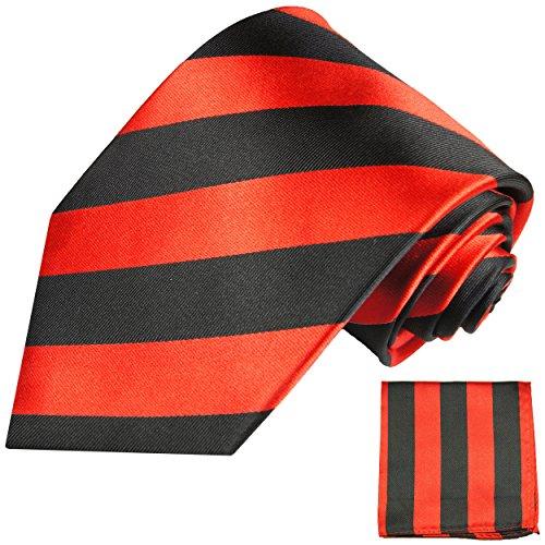 Cravate homme rouge noir rayée ensemble de cravate 2 Pièces ( longueur 165cm )