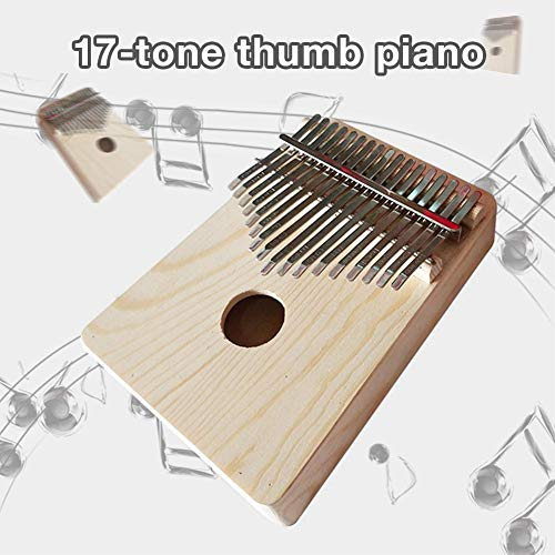 Daumenklavier Kalimba, Schmetterlingsform Karimba Instrument, 17 Schlüssel solid Finger Klavier, Akazienholz, mit Stimmwerkzeug, Musikinstrument Geschenk mit Tragetasche, Silikon-Fingerhülle