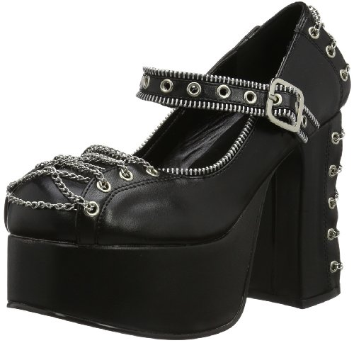 Demonia CHARADE-25 Damen Schnürhalbschuhe, Schwarz (Blk Vegan Leather), EU 42 (UK 9) (US 12)