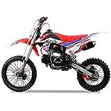 Pitbike RF Sport Motocicletta Da Motocross 125Cc Lem Motor 17/14 Bianco/Rosso