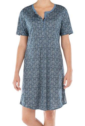 Calida - Chemise de nuit spécial grossesse - Femme black iris blue