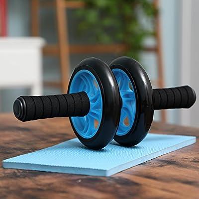 Songmics Bauchtrainer AB Roller für Fitness Bauchmuskeltraining Muskelaufbau Bauchroller für Frauen und Männer von Songmics