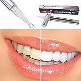 Bright White Teeth Whitening Pen, 1 Stück Zähne Zahnaufhellung Gel Stift Aufheller Reinigung Bleaching Kit Dental Weiß(Silber)
