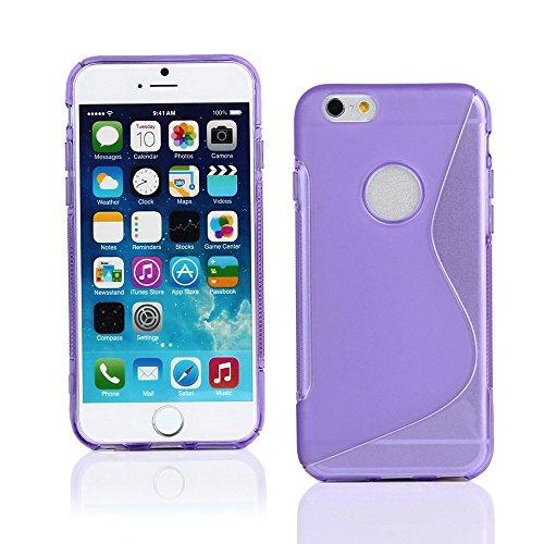 Violet S Line Wave Soft coque en Gel TPU Etui Housse Coque Arrière pour Apple iPhone 4S