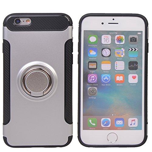 """Coque iPhone 6/6s ( 4.7""""),COOLKE Haute qualité Etui Housse Robuste Protection de Double Couche d'Armure 360 Degrés Rotation Ring Holder Stand Protection case cover pour Apple iPhone 6/6s ( 4.7"""") - Arg Argent"""