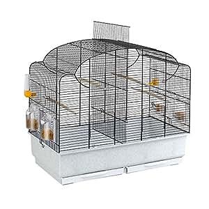Ferplast - 52501217 - Volière pour perruches - Complètement équipée - 71 x 38 x 60.5 cm - Noir